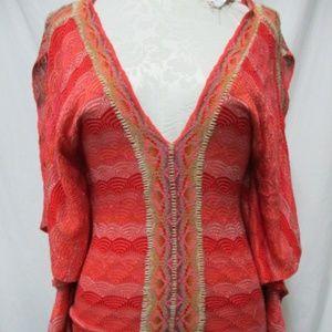 Cecilia Prado Anthropologie sweater knit blouse Md